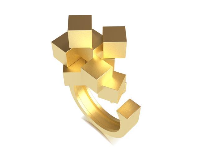 Cubos Oro Anillo 01
