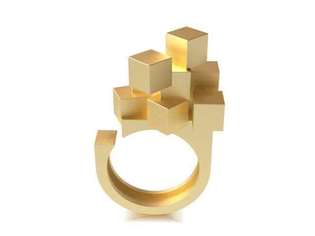 Cubos Oro Anillo 02