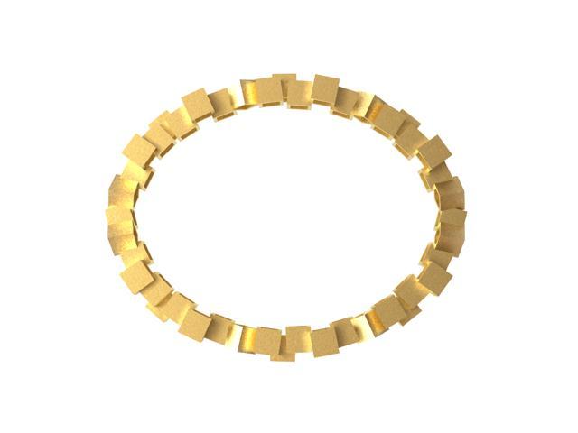 Cubos Oro pulsera 01