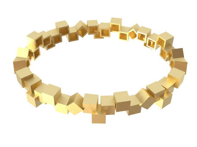 Cubos Oro pulsera 02