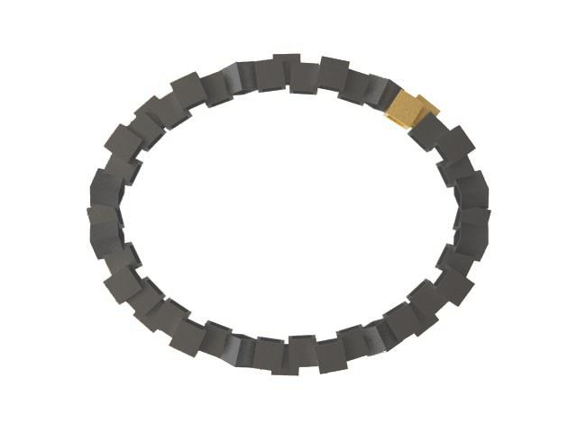 Cubos Plata Oxidada Pulsera 01